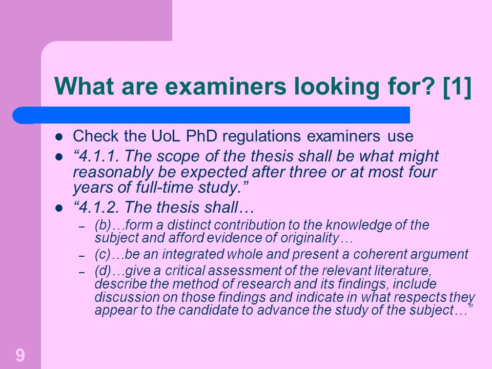 What are examiners looking for [1]